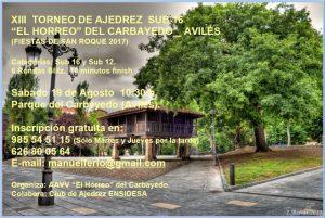"XIII Torneo de Ajedrez Sub 16 ""El Horreo"" (San Roque 2017)"